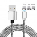 wholesale Cables & Plugs: Universal Magnetic Charging Cable Silver