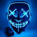 Horrorfilm LED-Maske - The Purge - Blau