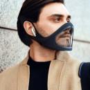 LÄCHELMASKE: Schutzmaske mit Öffnung