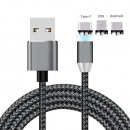 wholesale Cables & Plugs: Universal Magnetic Charging Cable Black