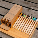 Natural bamboo and charcoal toothbrush