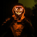 Großhandel Reiseartikel: Horrorfilm LED-Maske - The Purge - Orange