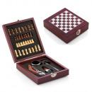Bor tartozék doboz sakktáblával