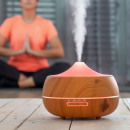 LED Aroma and Wood Effect Diffuser Humidifier