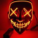 Horrorfilm LED-Maske - The Purge - Orange