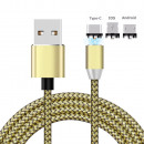 wholesale Cables & Plugs: Universal Magnetic Charging Cable Gold