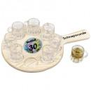 wholesale Houshold & Kitchen: 30th round of  schnapps Birthday with 8 shot glasse