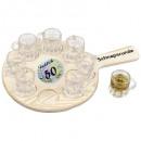 wholesale Houshold & Kitchen: 50th round of  schnapps Birthday with 8 shot glasse