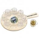 wholesale Houshold & Kitchen: 40th round of  schnapps Birthday with 8 shot glasse