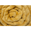 wholesale Cushions & Blankets: blancket Microfiber Cans 160x200 Mustard