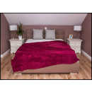 wholesale Cushions & Blankets: blancket Plaid Fleece 150x200 Burgundy