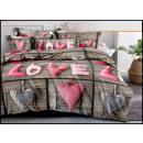 nagyker Ágyneműk és matracok: Ágynemű garnitúra pamut 160x200 3 rész A-3725