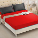 Fitted sheet 160x200 coton Red