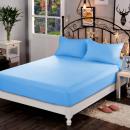 Spannbetttuch 160x200 Baumwolle blau