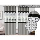 CURTAIN WHEELS 145x250 DARK-GRAY / BLACK