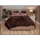 wholesale Cushions & Blankets: blancket Ribbed Microfiber 160x200 Brown