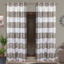 wholesale Curtains & Drapery: CURTAIN READY 145x250 GRAY-WHITE