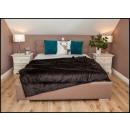wholesale Cushions & Blankets: blancket Plaid Fleece 150x200 Dark Brown