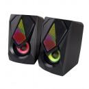 mayorista Electronica de ocio: ESPERANZA SPEAKERS 2.0 USB LED RAINBOW BOOGIE