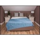 wholesale Cushions & Blankets: blancket Plaid Fleece 150x200 Light Blue