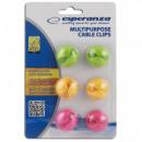 groothandel Computer & telecommunicatie: Esperanza Kabelorganizer MIX Colors 6 st.