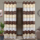 wholesale Curtains & Drapery: CURTAIN READY 145x250 ECRU-WHITE-BROWN