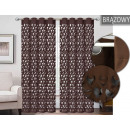 wholesale Curtains & Drapery: LASER CURTAIN CUT MOON 145x250 BROWN
