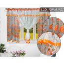 wholesale Curtains & Drapery: FIRANA READY 150x400 WOAL Orange