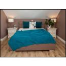 wholesale Cushions & Blankets: blancket Plaid Fleece 150x200 Azure