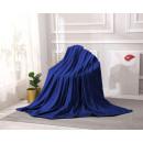 mayorista Casa y decoración: manta Microfibra Canalé 160x200 Azul Marino