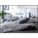 Completo letto in cotone 160x200 3 pezzi C-3636 -