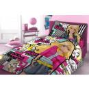Großhandel Lizenzartikel: Bettzeug Baumwolle 160x200 Barbie