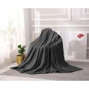 mayorista Casa y decoración: manta Microfibra acanalada 160x200 Grafito