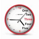 Großhandel Uhren & Wecker: ESPERANZA WANDUHR PRAG ROT