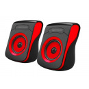2.0 USB FLAMENCO BLACK / RED SPEAKERS