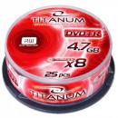 wholesale DVDs, Blue-rays & CDs: DVD + R TITANUM 4.7GB X8 - CAKE BOX 25 PCS.