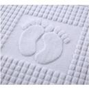 Großhandel Strümpfe & Socken: Fußzeile Hotel 50x70 Weiß