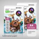 Sublimatie papier A4, 100 stuks / verpakking, 100g