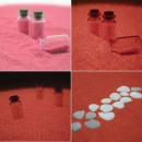 Großhandel Zubehör & Ersatzteile: Glow in the dark rosa Sand 250grams