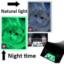 Glow in the dark adhesive photo paper A4 glossy