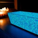 Phosphorescent luminous Mosaic aqua, 30x30cm, glow