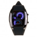 Handwatch With  Automatic Dial Led Blue White Green