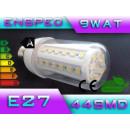 grossiste Ampoules: ampoule LED E27  LED 44 SMD puissance 9W