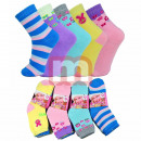 Großhandel Strümpfe & Socken: Mädchen Socken Baumwolle Mix Gr. 32-39