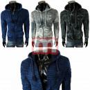 Großhandel Pullover & Sweatshirts: Herren Pullover Langarm Oberteil Zipper Hoodie