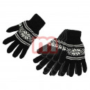 Unisex Gloves Black Wool Gloves Black