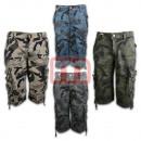 Großhandel Hosen: Herren Sommer Capri Cargo Hose Army Look