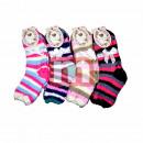 Großhandel Strümpfe & Socken: Damen Kuschel Socken Strümpfe Mix Gr. 36-41