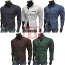 wholesale Shirts & Blouses: Men Leisure  Business Shirts Long Sleeve Tops