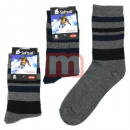 Großhandel Strümpfe & Socken: Damen Herren Thermo Socken Baumwolle